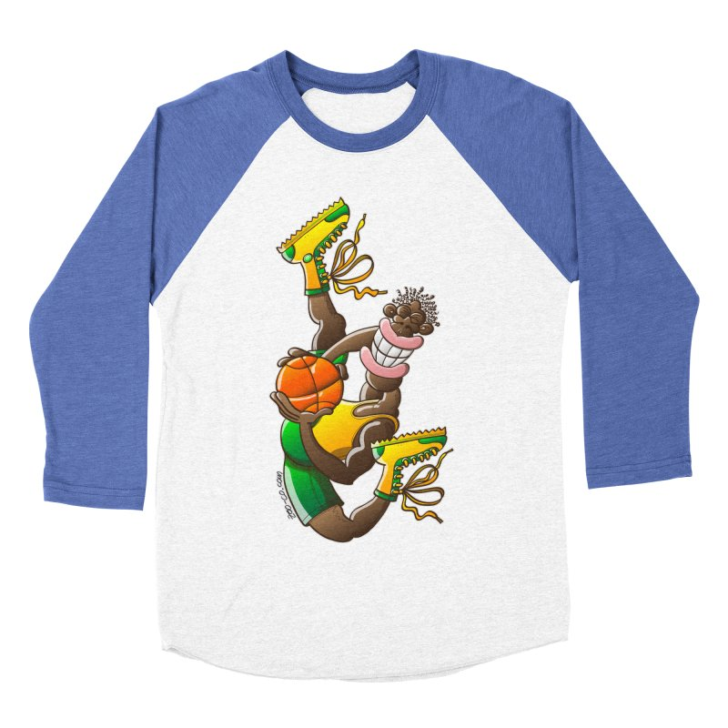 Amazing basketball Men's Baseball Triblend T-Shirt by Zoo&co's Artist Shop