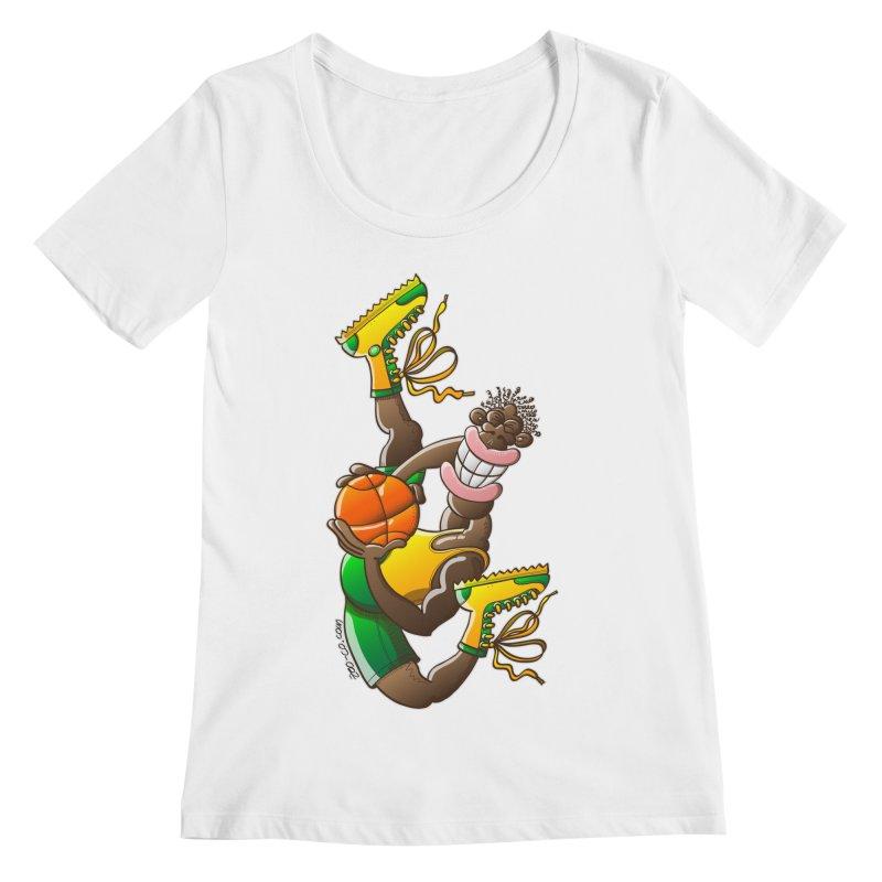 Amazing basketball Women's Scoopneck by Zoo&co's Artist Shop