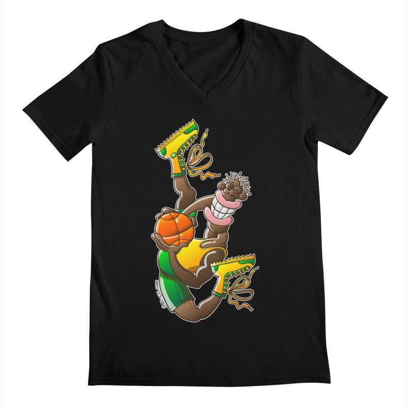 Amazing basketball Men's V-Neck by Zoo&co's Artist Shop