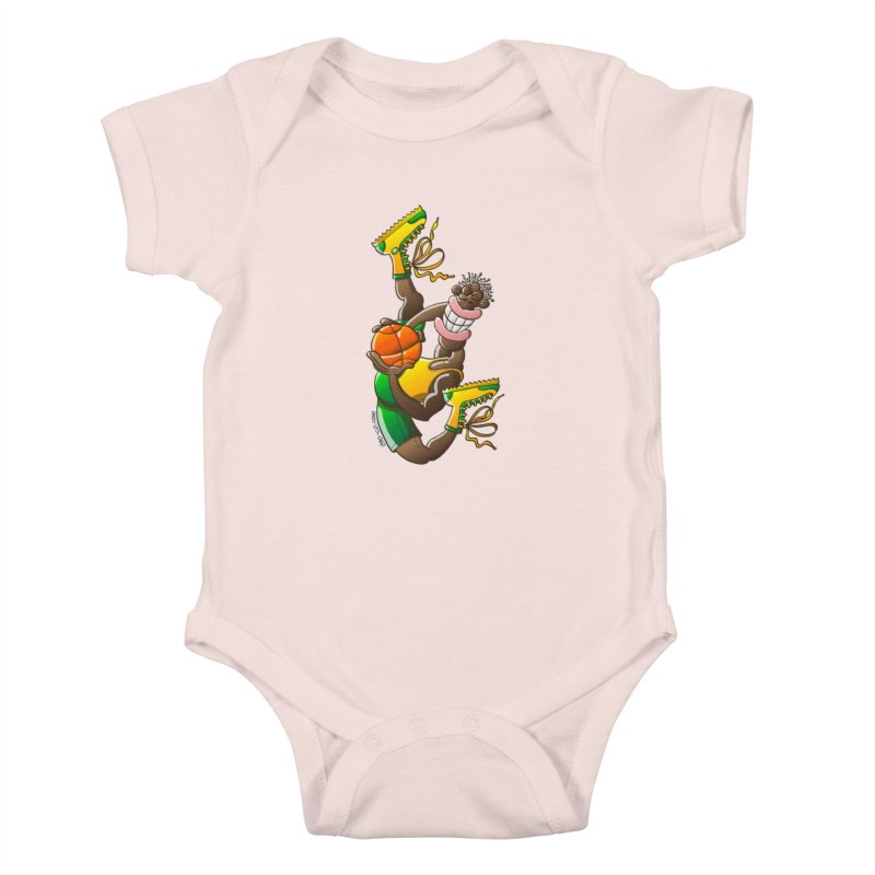 Amazing basketball Kids Baby Bodysuit by Zoo&co's Artist Shop
