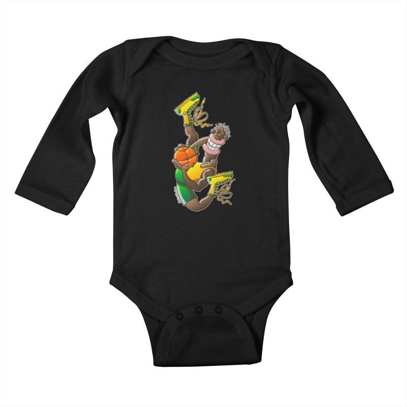 Amazing basketball Kids Baby Longsleeve Bodysuit by Zoo&co's Artist Shop