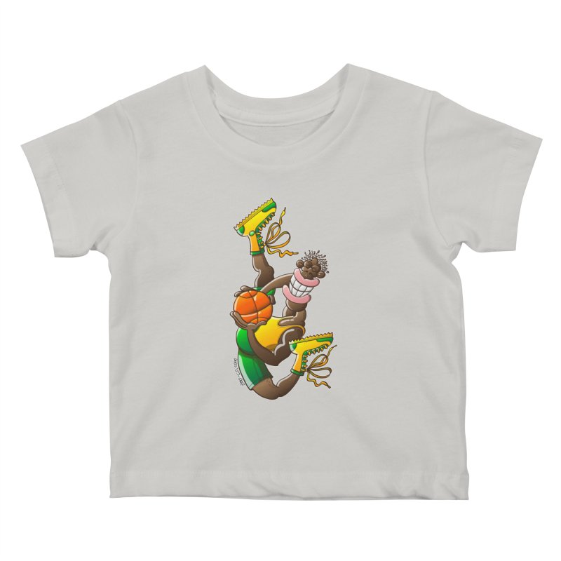 Amazing basketball Kids Baby T-Shirt by Zoo&co's Artist Shop