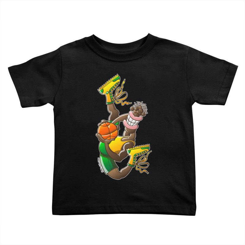 Amazing basketball Kids Toddler T-Shirt by Zoo&co's Artist Shop