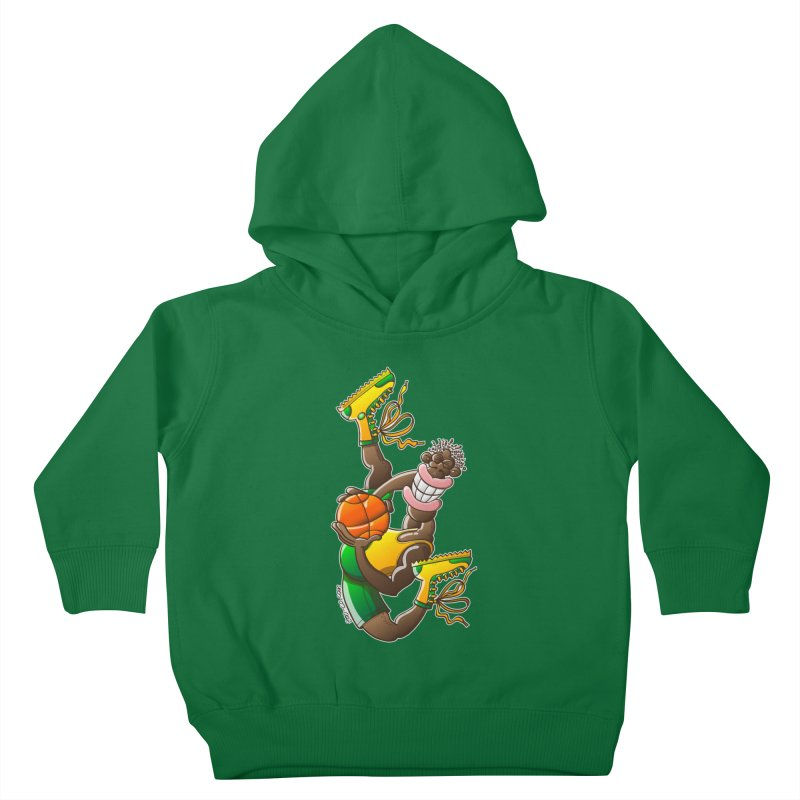 Amazing basketball Kids Toddler Pullover Hoody by Zoo&co's Artist Shop