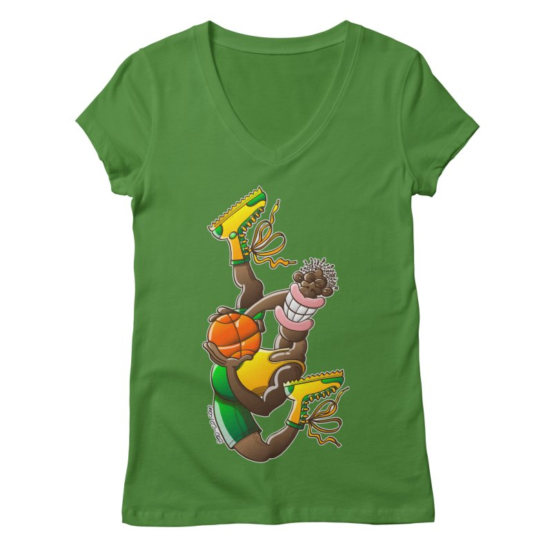 Amazing basketball Women's V-Neck by Zoo&co's Artist Shop