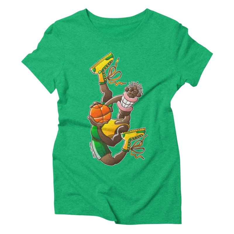 Amazing basketball Women's Triblend T-Shirt by Zoo&co's Artist Shop