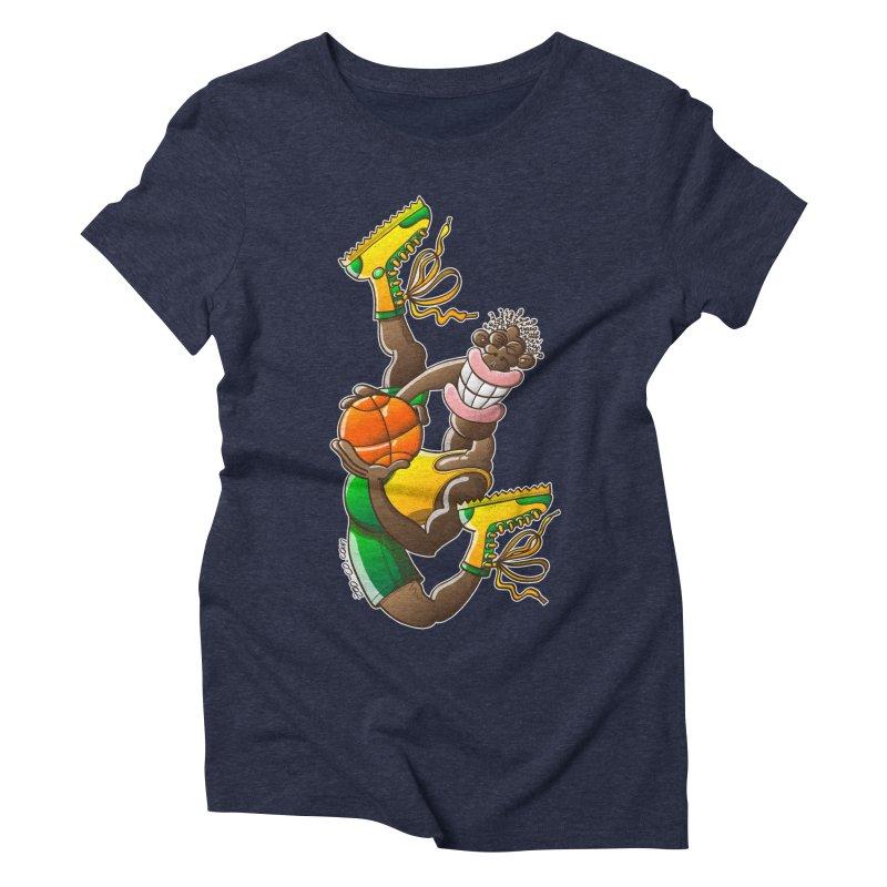 Amazing basketball Women's Triblend T-shirt by Zoo&co's Artist Shop