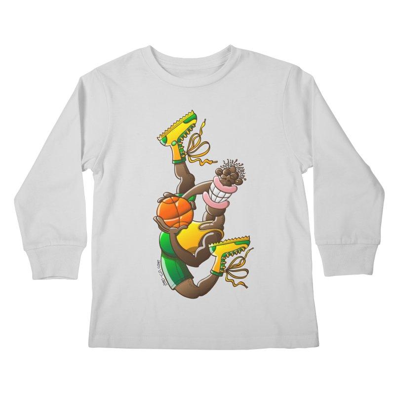 Amazing basketball Kids Longsleeve T-Shirt by Zoo&co's Artist Shop