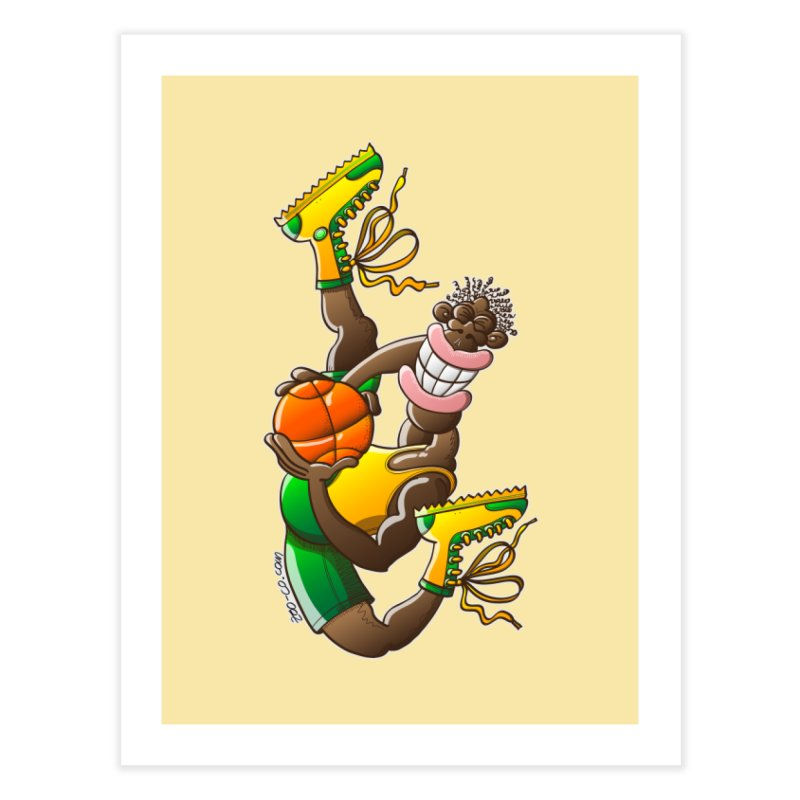 Amazing basketball Home Fine Art Print by Zoo&co's Artist Shop