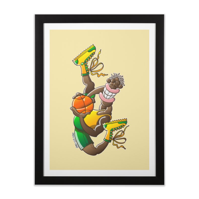 Amazing basketball Home Framed Fine Art Print by Zoo&co's Artist Shop