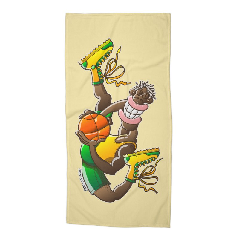 Amazing basketball Accessories Beach Towel by Zoo&co's Artist Shop