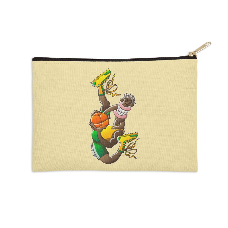 Amazing basketball Accessories Zip Pouch by Zoo&co's Artist Shop