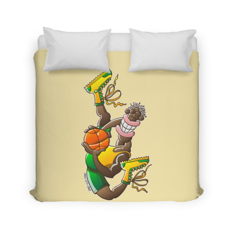 Amazing basketball Home Duvet by Zoo&co's Artist Shop