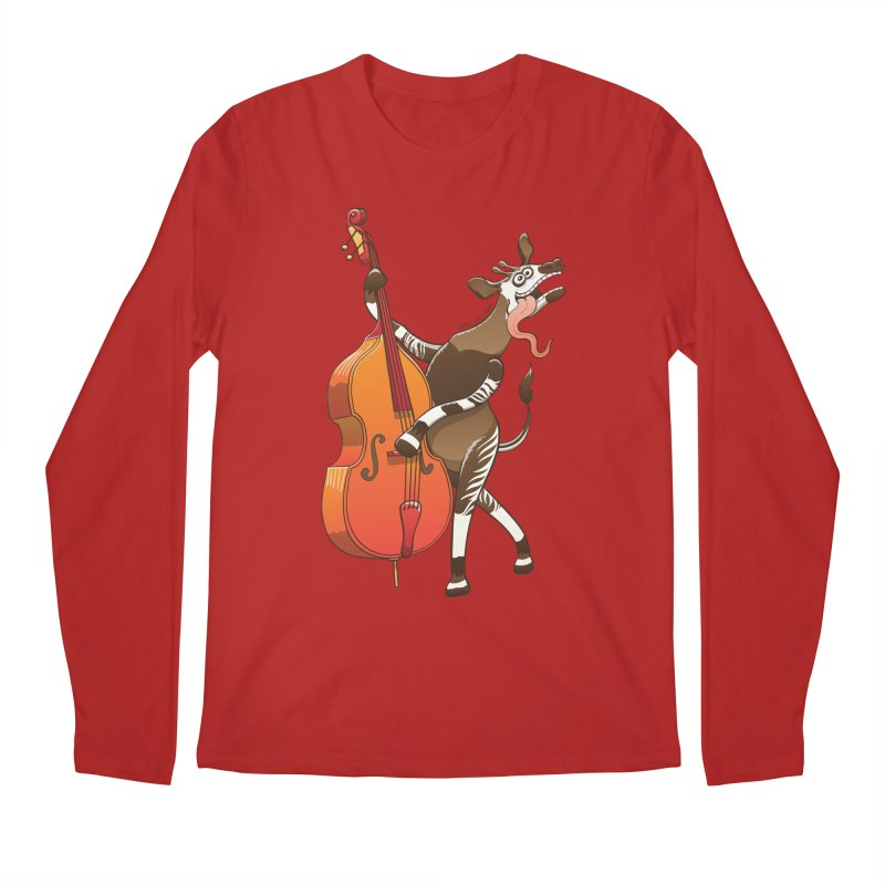 Cool okapi having fun playing double bass   by Zoo&co's Artist Shop