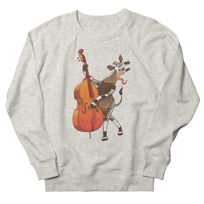 Cool okapi having fun playing double bass Men's Sweatshirt by Zoo&co's Artist Shop