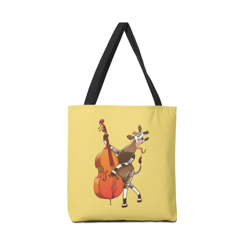 Cool okapi having fun playing double bass Accessories Bag by Zoo&co's Artist Shop