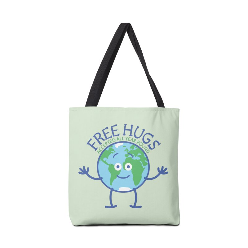Planet Earth accepts free hugs all year round Accessories Bag by Zoo&co's Artist Shop