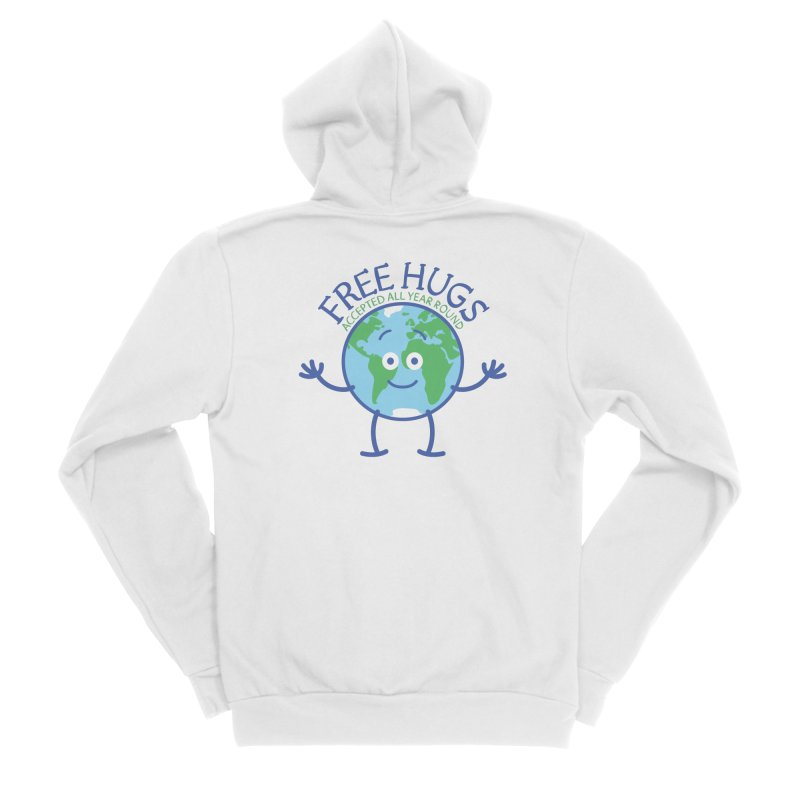 Planet Earth accepts free hugs all year round Men's Zip-Up Hoody by Zoo&co's Artist Shop