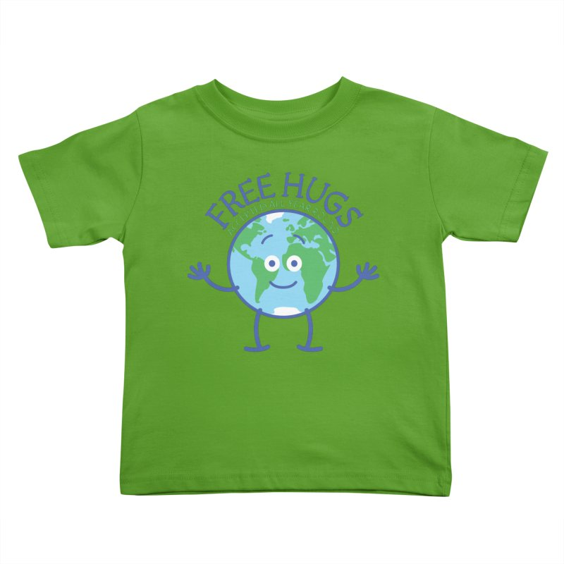 Planet Earth accepts free hugs all year round Kids Toddler T-Shirt by Zoo&co's Artist Shop