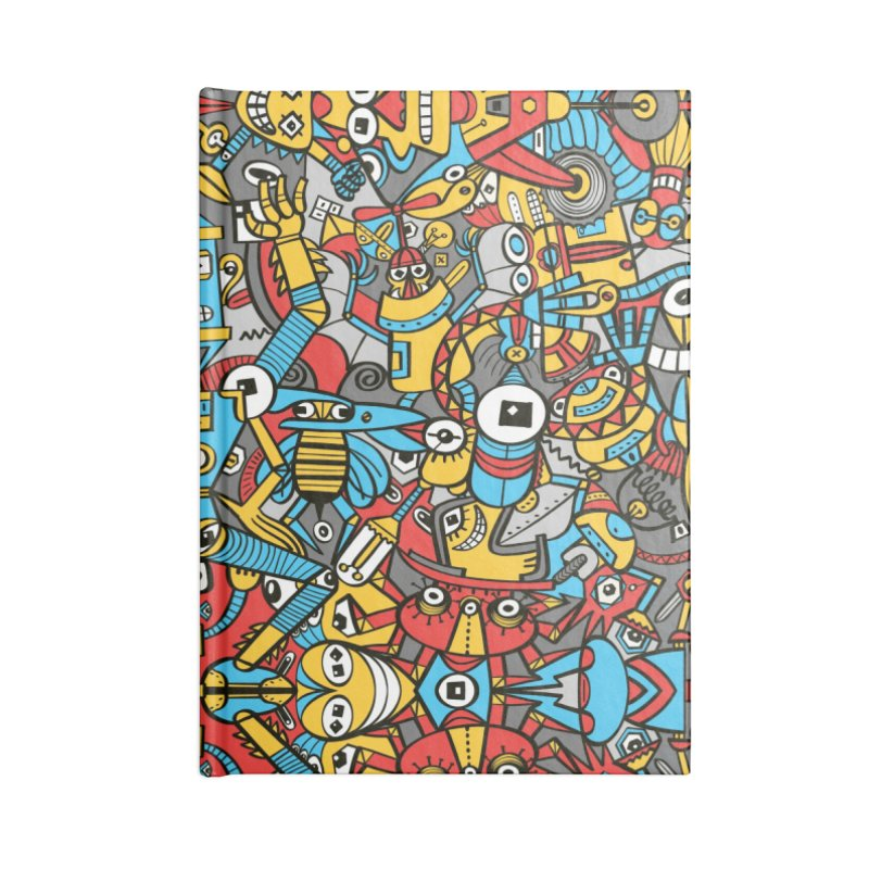 Crazy old robots rise from rust and come to life again Accessories Notebook by Zoo&co's Artist Shop