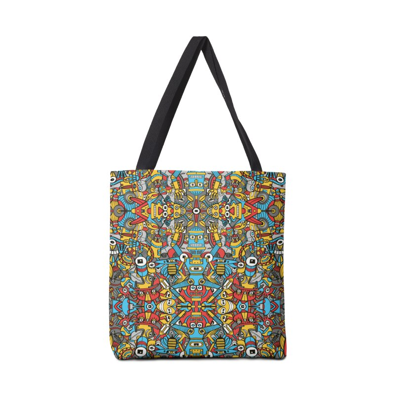 Crazy old robots rise from rust and come to life again Accessories Bag by Zoo&co's Artist Shop
