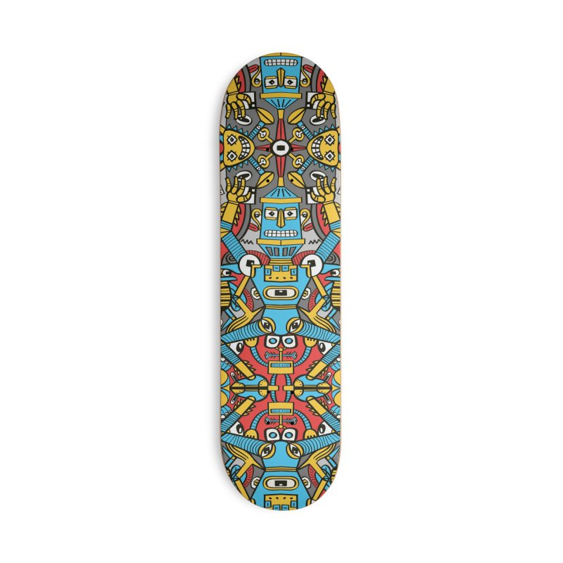 Crazy old robots rise from rust and come to life again Accessories Skateboard by Zoo&co's Artist Shop