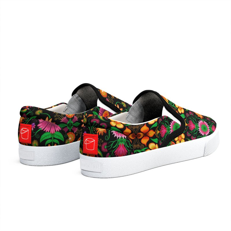Thousands of wildflowers explode in a mesmerizing pattern of color Women's Shoes by Zoo&co's Artist Shop