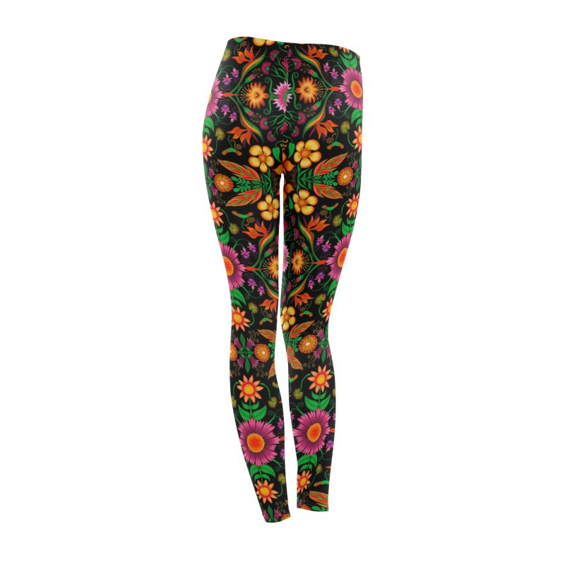 Thousands of wildflowers explode in a mesmerizing pattern of color Women's Bottoms by Zoo&co's Artist Shop