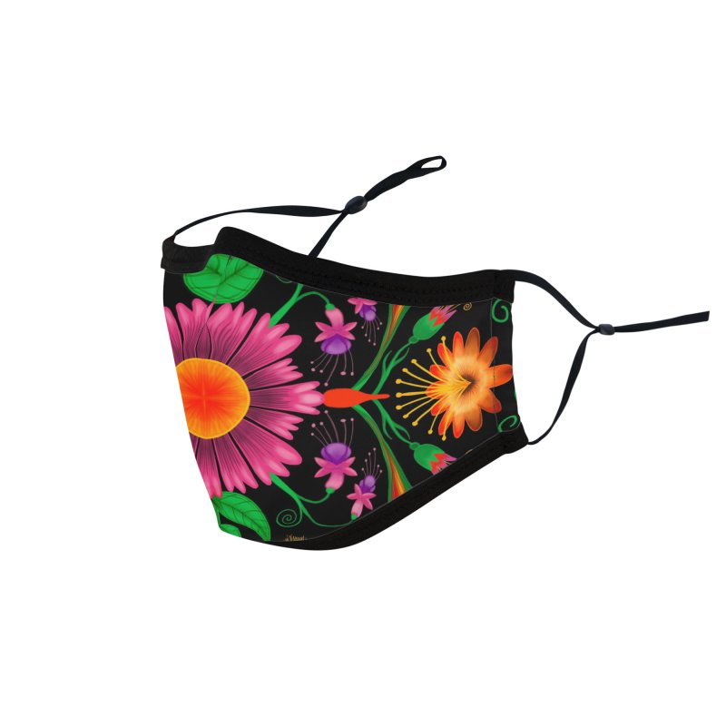 Thousands of wildflowers explode in a mesmerizing pattern of color Accessories Face Mask by Zoo&co's Artist Shop