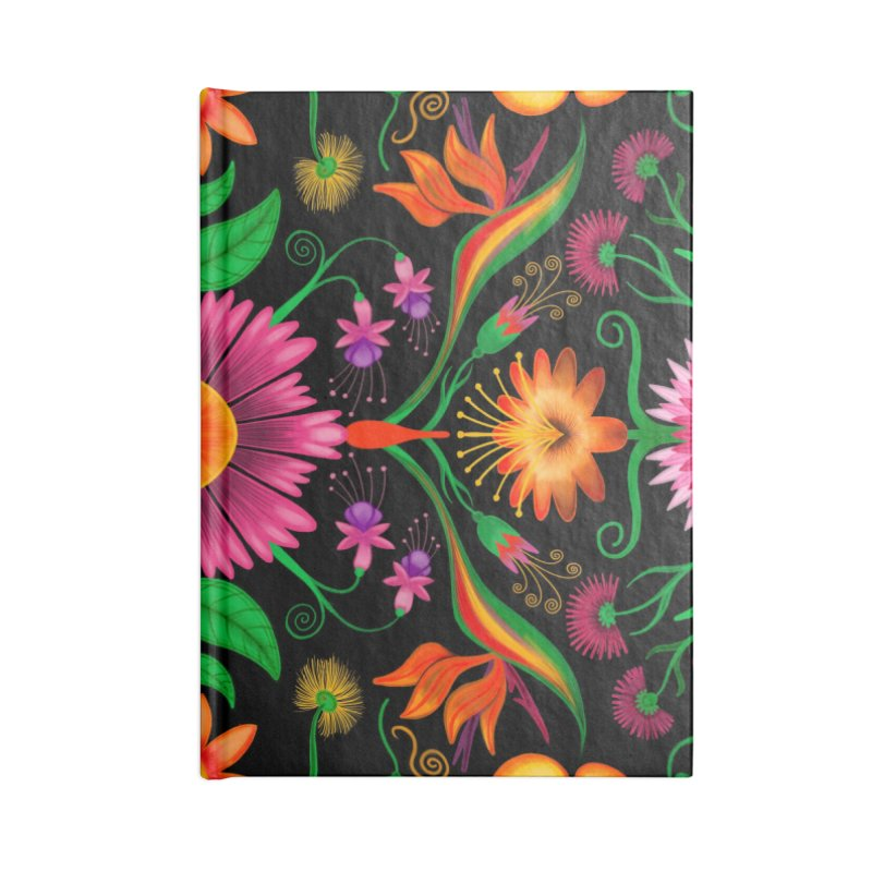 Thousands of wildflowers explode in a mesmerizing pattern of color Accessories Notebook by Zoo&co's Artist Shop