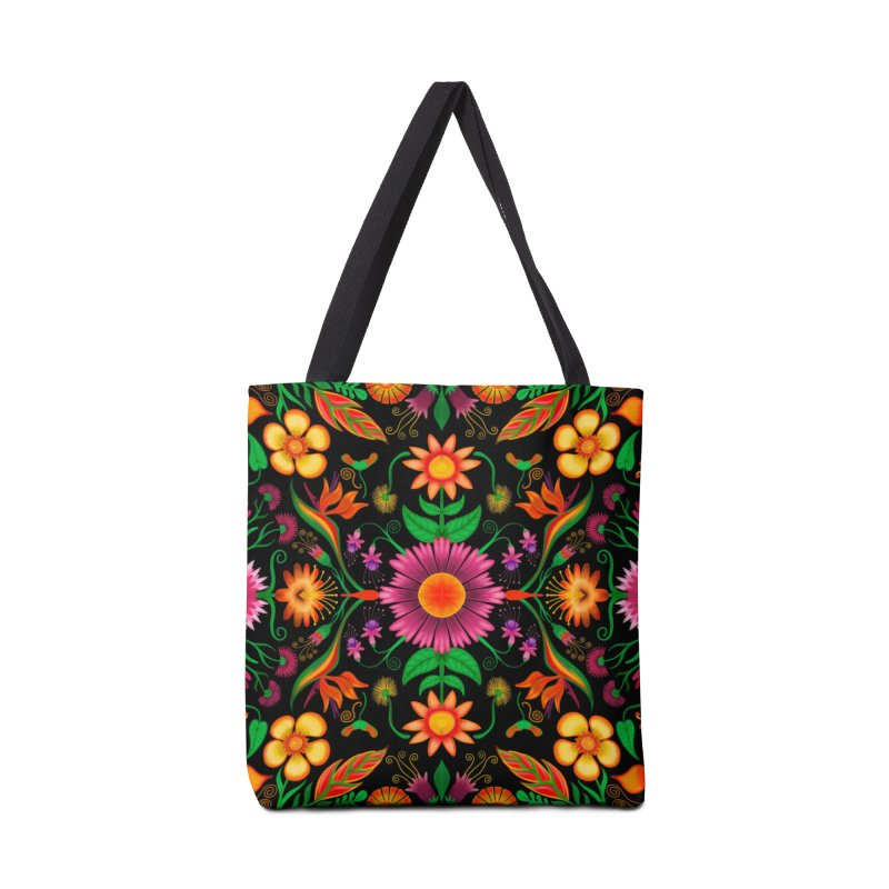 Thousands of wildflowers explode in a mesmerizing pattern of color Accessories Bag by Zoo&co's Artist Shop