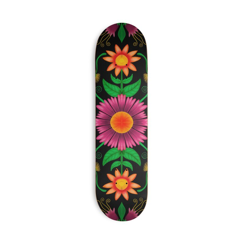 Thousands of wildflowers explode in a mesmerizing pattern of color Accessories Skateboard by Zoo&co's Artist Shop