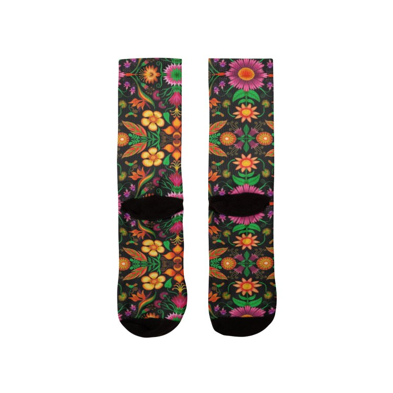 Thousands of wildflowers explode in a mesmerizing pattern of color Women's Socks by Zoo&co's Artist Shop