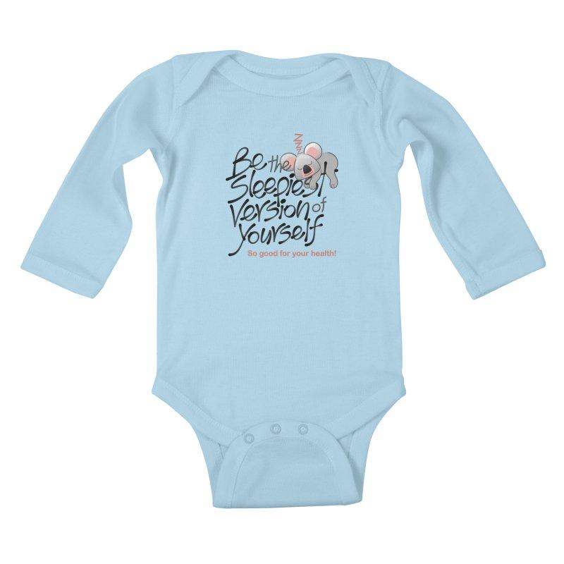 Be the sleepiest version of yourself koala Kids Baby Longsleeve Bodysuit by Zoo&co's Artist Shop