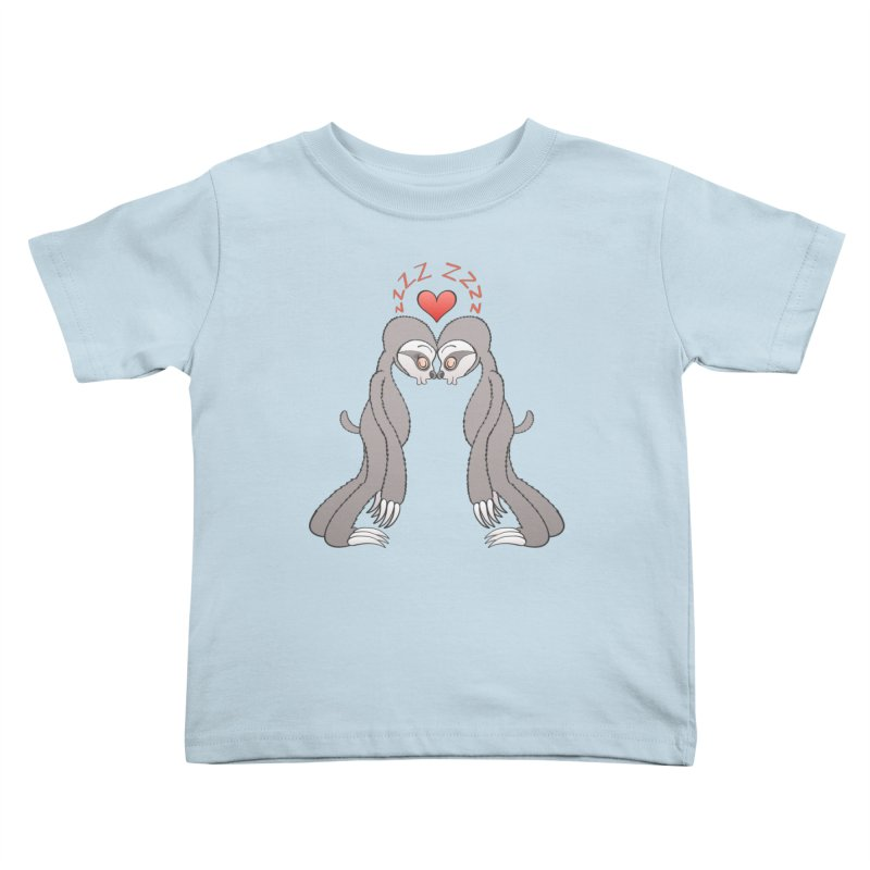 Couple of sweet sloths living a sleepy love Kids Toddler T-Shirt by Zoo&co's Artist Shop