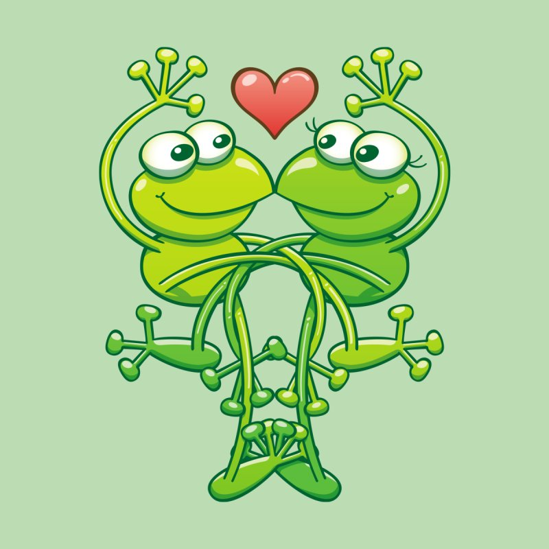 Sweet couple of green frogs intertwining their arms and legs while madly falling in love Home Throw Pillow by Zoo&co's Artist Shop