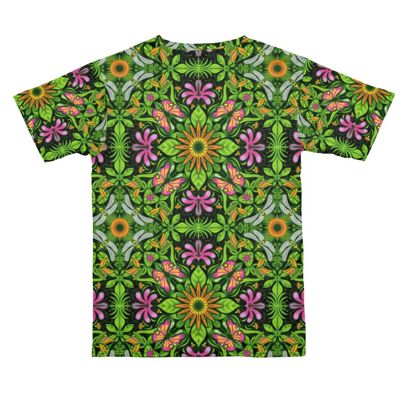 A magical garden full of fantastic flowers and insects Women's Cut & Sew by Zoo&co's Artist Shop