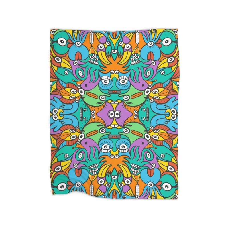 Fantastic world full of birds and aquatic critters Home Blanket by Zoo&co's Artist Shop