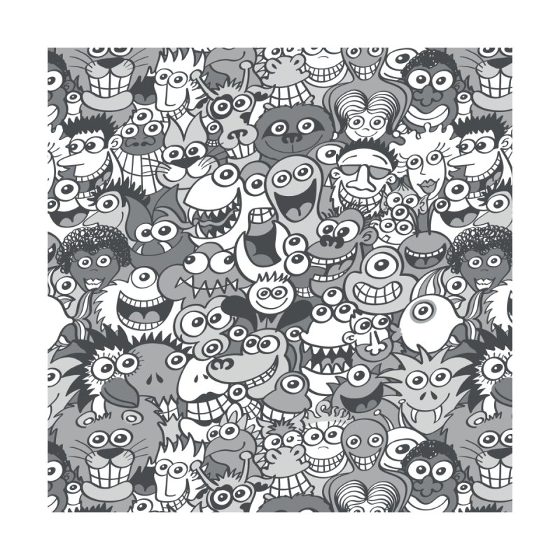 Weird gray people and creatures having lots of fun posing for a photo Men's Cut & Sew by Zoo&co's Artist Shop