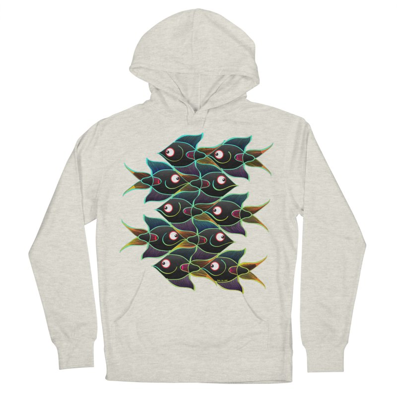 A happy world full of smiling fishes Men's Pullover Hoody by Zoo&co's Artist Shop