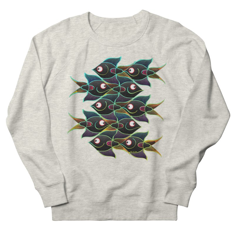A happy world full of smiling fishes Men's Sweatshirt by Zoo&co's Artist Shop