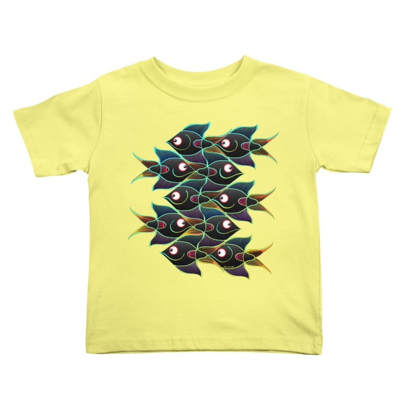 A happy world full of smiling fishes Kids Toddler T-Shirt by Zoo&co's Artist Shop