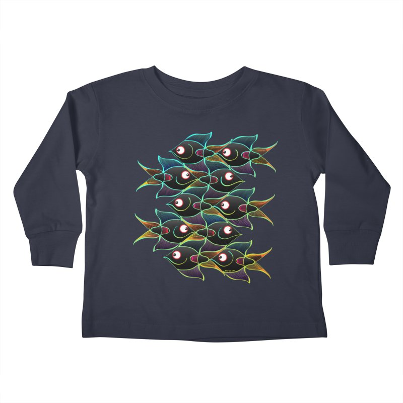 A happy world full of smiling fishes Kids Toddler Longsleeve T-Shirt by Zoo&co's Artist Shop