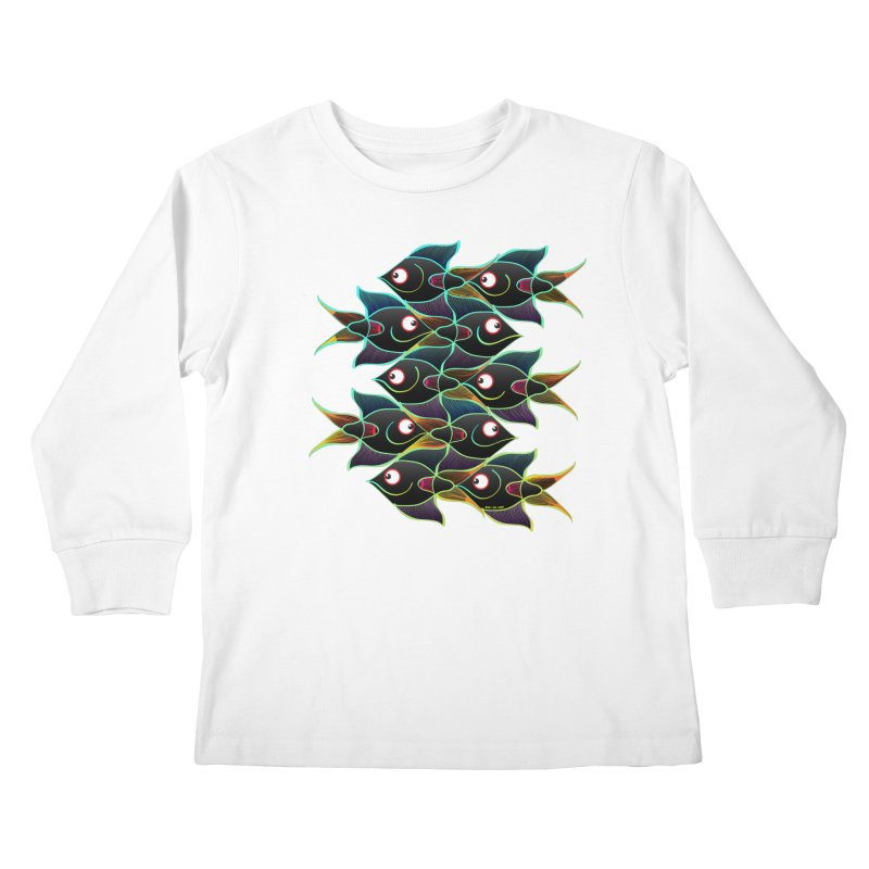 A happy world full of smiling fishes Kids Longsleeve T-Shirt by Zoo&co's Artist Shop