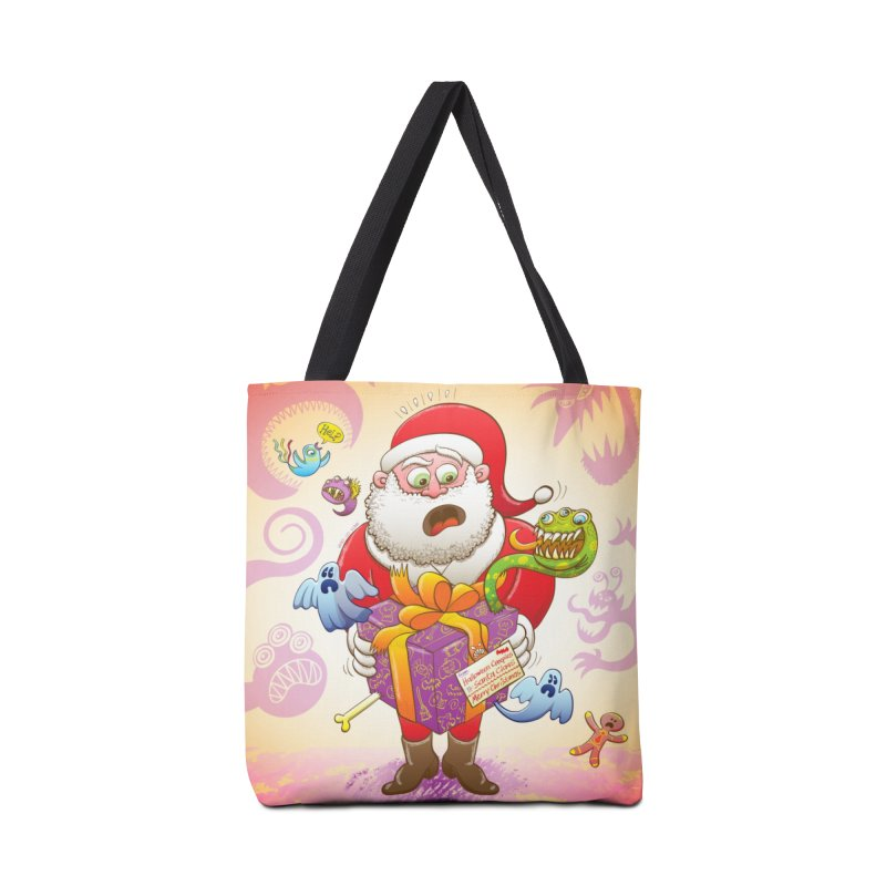 A Christmas gift from Halloween creepies to Santa Accessories Bag by Zoo&co's Artist Shop