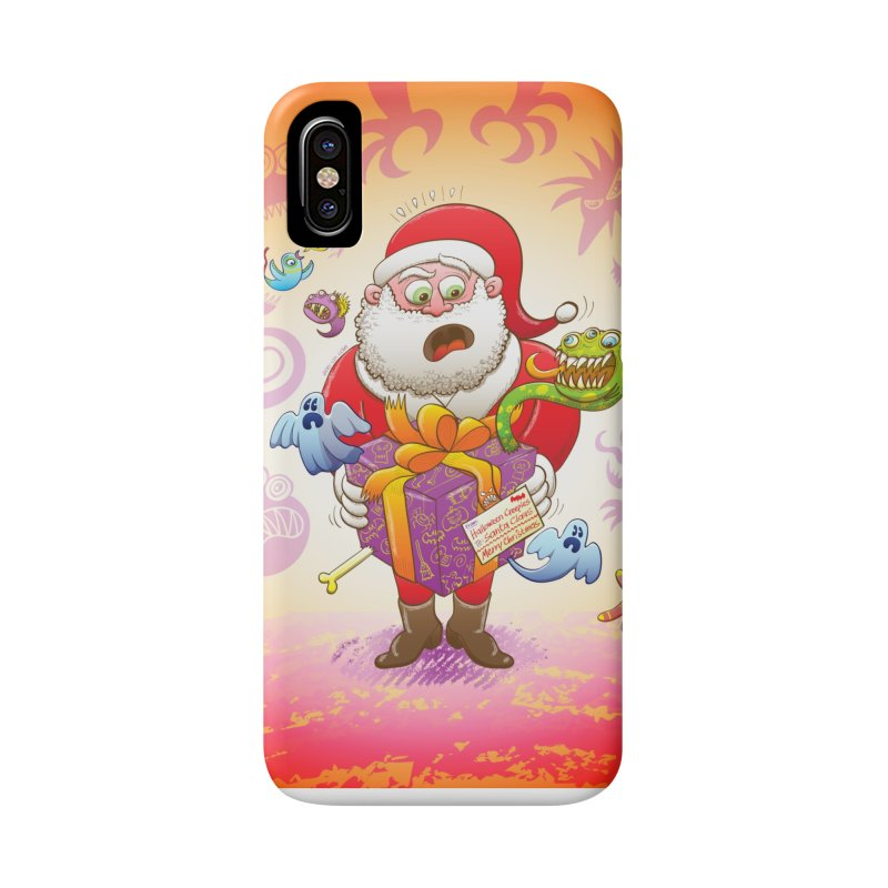 A Christmas gift from Halloween creepies to Santa Accessories Phone Case by Zoo&co's Artist Shop