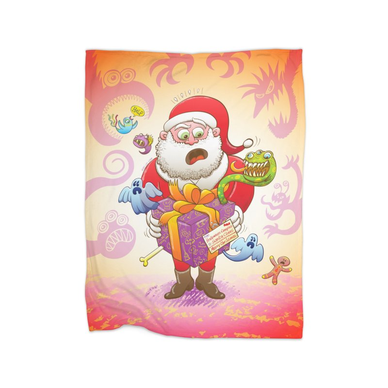 A Christmas gift from Halloween creepies to Santa Home Blanket by Zoo&co's Artist Shop
