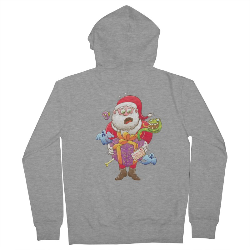 A Christmas gift from Halloween creepies to Santa Men's Zip-Up Hoody by Zoo&co's Artist Shop
