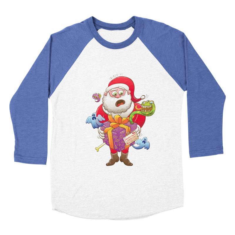 A Christmas gift from Halloween creepies to Santa Women's Baseball Triblend T-Shirt by Zoo&co's Artist Shop