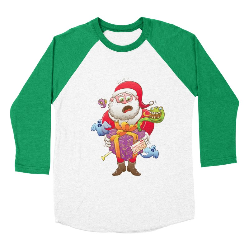 A Christmas gift from Halloween creepies to Santa Men's Baseball Triblend T-Shirt by Zoo&co's Artist Shop